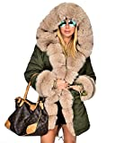 Product review for Roiii Women Hooded Parka Faux Fur Winter Warm Ladies Casual Long Jacket Coat Top