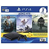 PlayStation 4 Hits 1TB con 3 juegos: God of War, Horizon Zero Dawn, Shadow of the Colossus - Bundle Edition