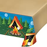 Creative Converting 329320 PLASTIC TABLECOVER ALL OVER PRINT, 54' X 102', One Size, Multicolor