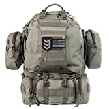 Paratus 3 Day Operator's Pack Military Style MOLLE Compatible Tactical Backpack Bug Out Bag (Grey)