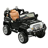 Aosom 12V Kids Battery Powered Off Road Truck with Remote Control - Black