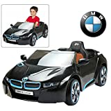 Official Licensed BMW Ride On Car with Remote Control for Kids | 12V Power Battery i8 Kid Car to Drive with 2.4G Radio Parental Control Blue