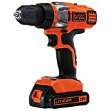 BLACK+DECKER LDX220C 20V MAX 2-Speed Cordless Drill Driver (Includes Battery and Charger)