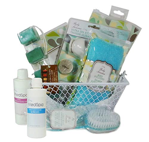 57dca1bf82061 Exfoliation Essentials Spa Bath   Shower Gift Basket Set for Smooth Glowing  Skin (18 Piece)