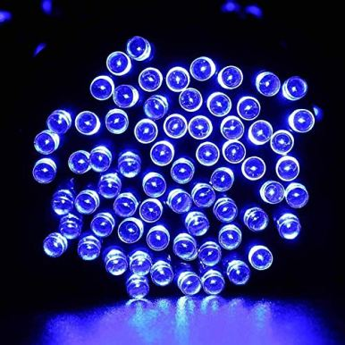 Joomer-Solar-Christmas-Lights-39ft-100-LED-8-Modes-Solar-String-Lights-Waterproof-Solar-Fairy-Lights-for-Garden-Patio-Fence-Balcony-Outdoors-Blue