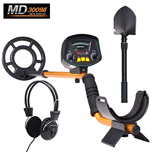 Wedigout Metal Detector MD-3009II Gold Detectors Treasure Finder Detectors Within 8 Inches Adjustable Sensitivity and Headphone Jack