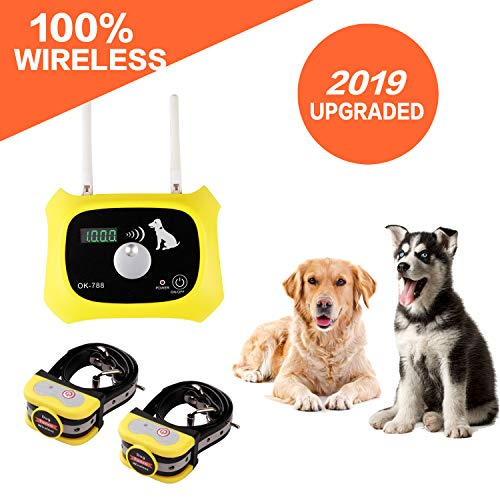 Wireless Dog Fence Electric Pet Containment System, Safe and Effective Anti Over...