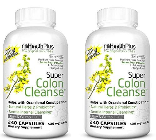 Health Plus Super Colon Cleanse: 10-Day Cleanse -Detox  12 Cleanses, 480 Capsules