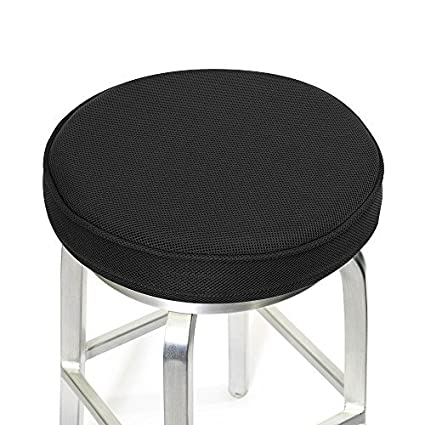 Amazon Com Shinnwa Bar Stool Cushionsmemory Foam Bar Stool Covers Round Cushion With Non Slip Backing And Elastic Band 14 Black Home Kitchen