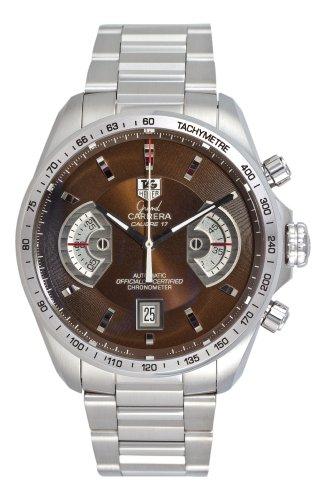 51054 8RhGL Stainless steel round case Stainless steel bracelet Brown dial