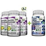 Colon Detox & Cleanse + Pure Garcinia Cambogia Extract- Weight Loss Bundle/240 Veggie Capsules-Gluten Free-Non GMO
