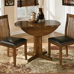 Signature Design by Ashley – Stuman Dining Room Table – Drop Down Leaves – Medium Brown