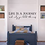 "Life is a journey and only you hold the map Wall Stickers Home Decor, Quote Decal Lettering Removable Vinyl Art Decoration (9.1"" X 36"")"