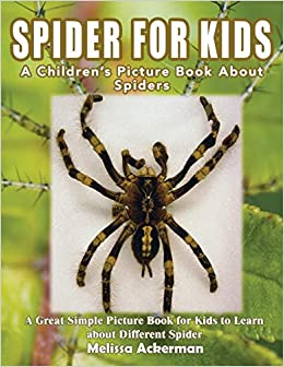 Spiders For Kids A Children S Picture Book About Spiders A Great Simple Picture Book For Kids To Learn About Different Spiders Amazon Co Uk Ackerman Melissa Books