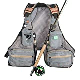 SF Fly Fishing Vest Pack Breathable Backpack Polyester Mesh Design Adjustable Size for Fly Bass Fishing Swimming Sailing Boating Kayak Floating and Outdoor Activities