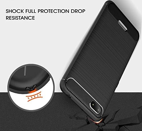 Explocart Premium 360* Protection Designed Soft Rubberised Rugged Armor TPU Back Case Cover for Xiaomi Redmi 6A -Black 3