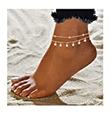 ForeveRing Z Star Anklet Boho Beach Jewelry Layer Anklet Chain for Women Adjustable Anklet