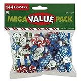 amscan Christmas Themed Eraser Mega Value Pack, 144 Ct. | Party Favor