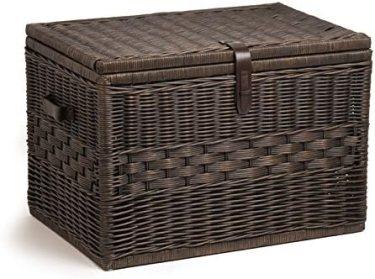 The Basket Lady Deep Wicker Storage Trunk