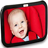 Baby Car Mirror, Car Seat Mirror, Safely Monitor Infant Child in Rear Facing Car Seat, Wide View Shatterproof Adjustable Acrylic 360°for Backseat