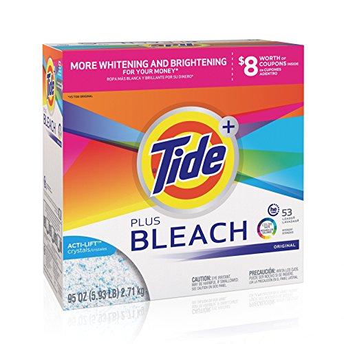 Tide Powder with Bleach, 53 Loads, 95 oz