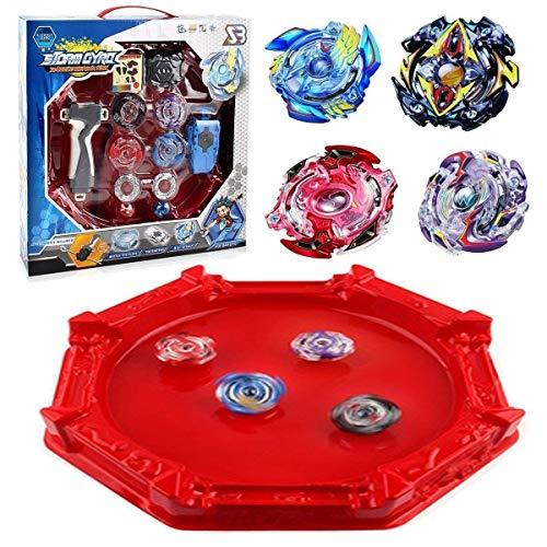 Bey Battle Blade Burst Turbo Evolution Star Storm Battle Set Big Arena Included with 4D Launcher Grip Set Toys for Prime