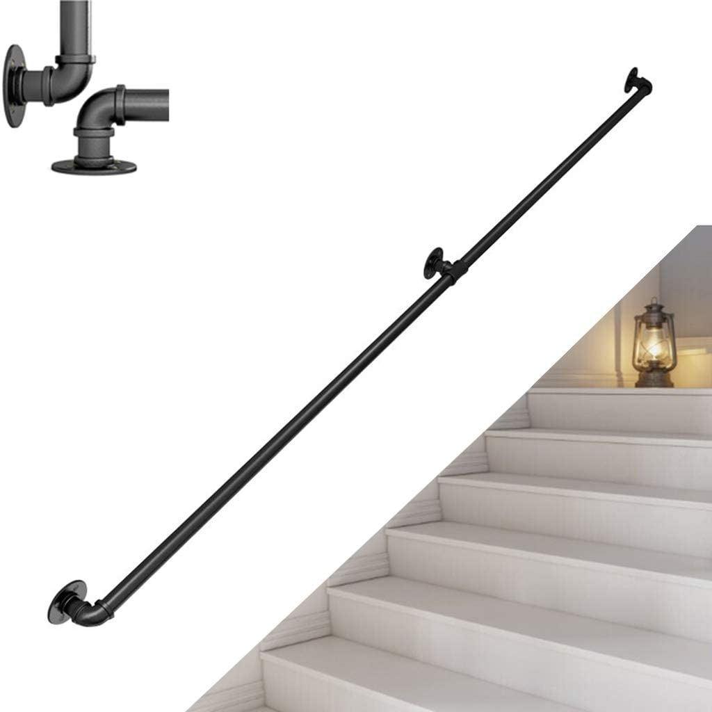 Amazon Com Lyhxxx Wall Mounted Safety Rail Stair Banister | Outdoor Balustrades And Handrails | Timber | Railing | Verandah | Beautiful | Industrial Hand