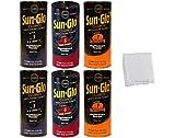 Sun-Glo Table Shuffleboard Powder Wax Dust Slow Sampler Six-Pack + Talc for 9-14 Foot Tables