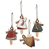 Fun Express Dancing Metal Angels Decor (12 pieces) Various Colors, Ornaments, Gift Tags