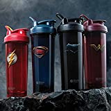 BlenderBottle 4-Pack Water Bottle of 32oz, Batman/Flash/Superman/Wonder Women, 32 ounce Value Pack