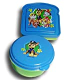 Paw Patrol Blue and Green Sandwich and Snack Container Lunch Box Kit