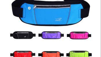f7d5fac97f25 Fanny Pack Travel Money Belt, Reflective Adjustable Waist Bag with ...