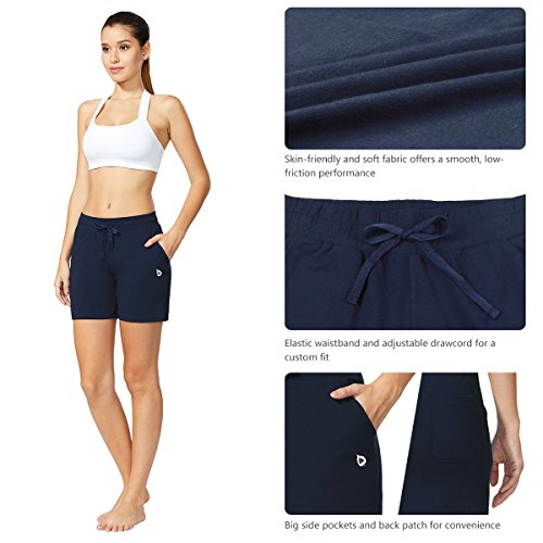 "Baleaf Women's 5"" Activewear Yoga Lounge Shorts with Pockets 5 Fashion Online Shop gifts for her gifts for him womens full figure"