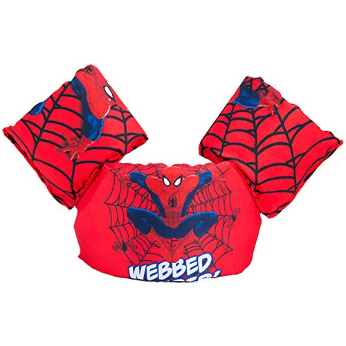JKSPORTS Baby Floats for Pool,Kids Life Jacket from 30 to 50lbs, Compatible 20-30 Pounds Infant/Baby/Toddler, Swim Vest with Arm Wings for Boys and Girls (Spider-Man Red)