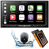 Pioneer AVH-W4500NEX Double DIN Wireless Mirroring Android Auto, Carplay In-Dash DVD/CD Car Stereo Receiver, 7' Touchscreen + HD Backup Camera + Magnet Phone Holder, BLACK, AVH4200NEX