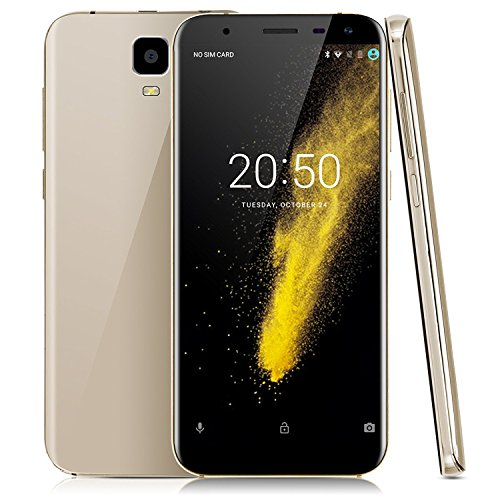 Xgody Y23 WCDMA GSM Dual SIM Cell Phones Unlocked 3G 18:9 Android 7.0 16 GB 6 Inch HD Screen Quad-core for AT&T T-Mobile Dual Camera 8MP&13MP with Wi-Fi Bluetooth Celulares Desbloqueados Gold