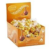 Lindt LINDOR Caramel Milk Chocolate Truffles Kosher Candy Chocolates, 60 Count Box