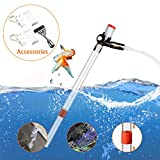 SSRIVER Aquarium Gravel Cleaner Fish Tank Kit Long Nozzle Water Changer for Water Changing and Filter Gravel Cleaning with Air-Pressing Button and Adjustable Water Flow Controller- BPA Free