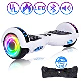 SISIGAD Hoverboard 6.5' Self Balancing Scooter with Colorful LED Wheels Lights Two-Wheels self Balancing...