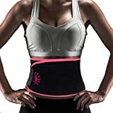 FTEOX Waist Trimmer Belt,Weight Loss Belt Sweat Belt Waist Trainer Belt Slimming Belt for Women&Men Stomach Fat Burner Low Back Lumbar Support Adjustable Straps with Sauna Suit Effect