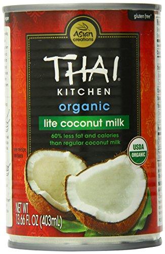 Thai Kitchen Organic Lite Coconut Milk, 13.66 oz. (Pack of 6)
