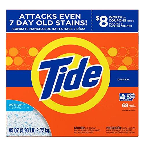 Tide Original HE Turbo Powder Laundry Detergent, 68 Loads, 95 Oz