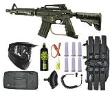 US Army Alpha Black Tactical Paintball Marker Gun Sniper Set - Black