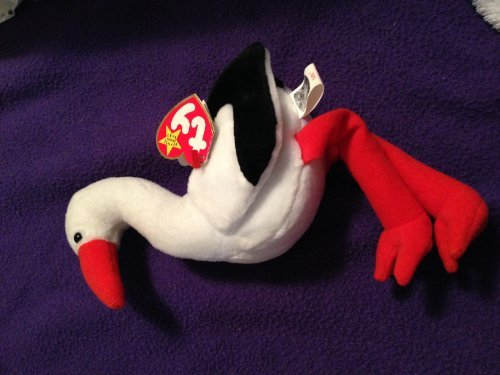 Ty Stilts Beanie Baby Bird Stork with Rare ERROR Tags