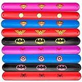 Zaleny Kids Slap Bracelet Superhero Style Boys & Girls Party Birthday Gift Supplies 9 Pack