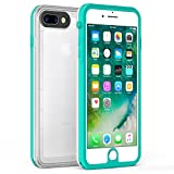 iPhone 8 Plus iPhone 7 Plus Waterproof Case, Fansteck Ultra Slim Durable Waterproof IP68 / High Sensitive Touch Screen Touch ID Waterproof Case 5.5 inch Mint Green