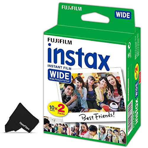 FujiFilm Instax Wide Instant Film Pack of 20 Photo Sheets – Compatible with FujiFilm Instax Wide 300, 210 and 200 Instant Cameras