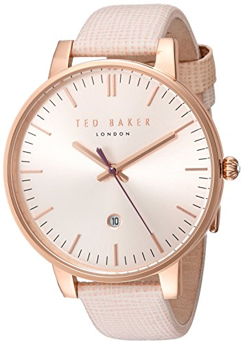 510aKtdEh7L Japanese quartz 3-hand movement, date feature with sweeping second hand Comfortable genuine leather calfskin strap with solid stainless steel buckle closure, with keeper/safety Japanese-quartz Movement