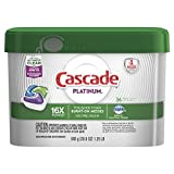 Cascade Platinum ActionPacs Dishwasher Detergent, Fresh, 36 count (Packaging May Vary)