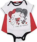 DC Comics Harley Quinn Baby Girls' Bodysuit and Cape, White (0-3 Months)